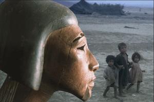 Tête de harpe d'Égypte / enfants du désert